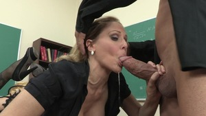 18 year old blonde rides cock